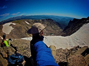 Just chillin' at 13,000 feet - no big deal.