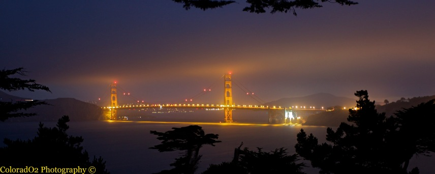 Golden Gate Bridge at Night!