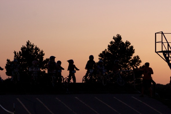 BMX Fast Track Riders