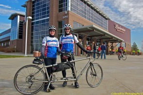 US Pro Challenge tandem advocates for the bid ride to Denver!