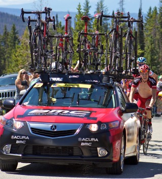 BMC Race Car Protecting Riders...