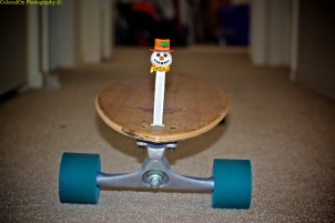 """Frosty Pez, ready for summer on the longboard!"""