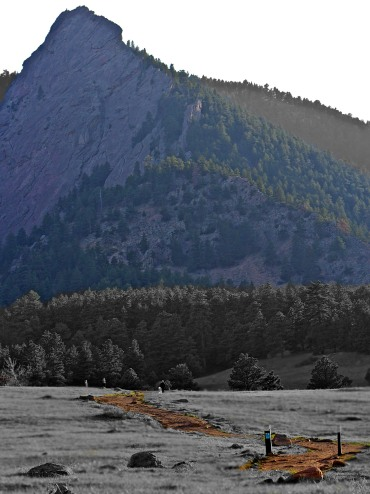Boulder Flatiron #2 and Trail at Chautauqua Park