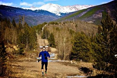 Trail run outside of Leadville!