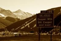 Copper Mountain Ski Resort, just north of Leadville.