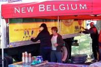 Finish line at New Belgium - How convenient!